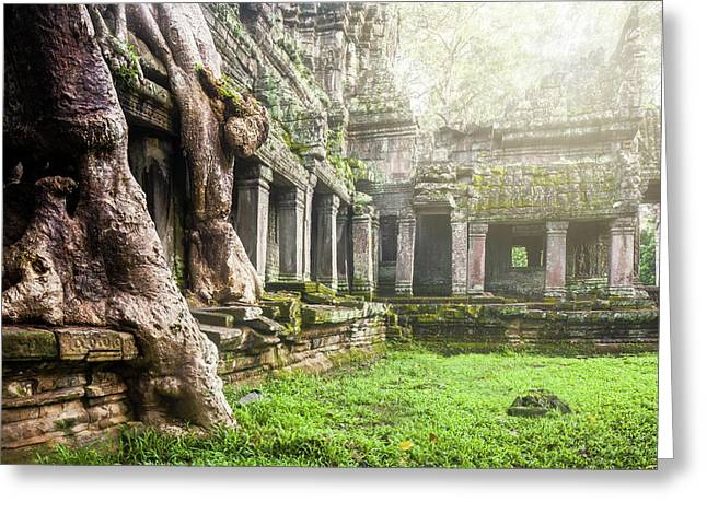 Greeting Card featuring the photograph Jungle Temple 1 by Nicole Young