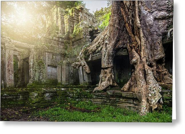 Greeting Card featuring the photograph Jungle Temple 2 by Nicole Young