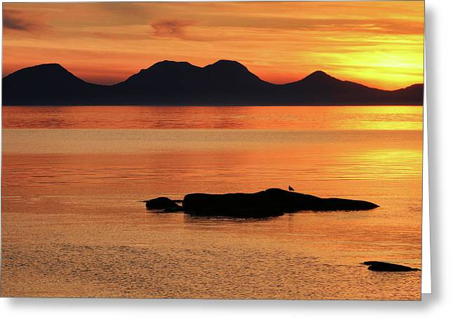 Jura Sunset Greeting Card