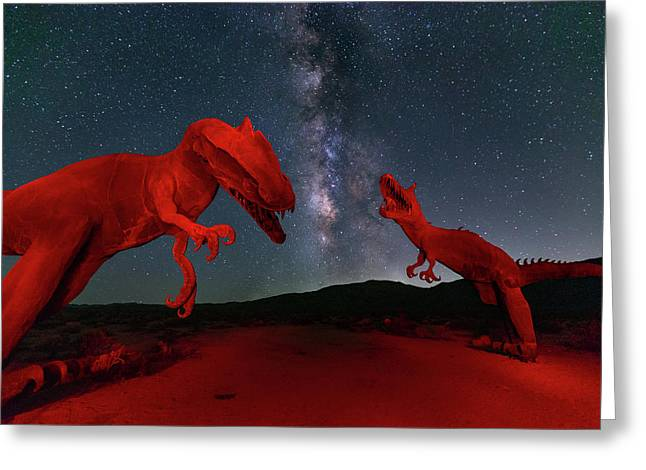 Greeting Card featuring the photograph Jurassic by Tassanee Angiolillo