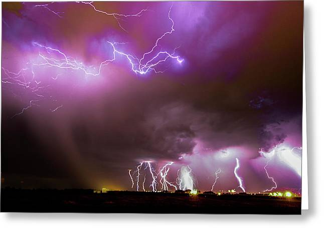 Greeting Card featuring the photograph Just A Few Bolts 001 by NebraskaSC