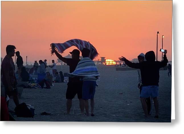 Greeting Card featuring the photograph Just Another California Sunset by Ron Cline