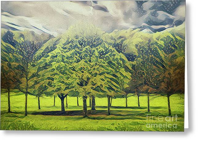 Greeting Card featuring the photograph Just Trees by Leigh Kemp