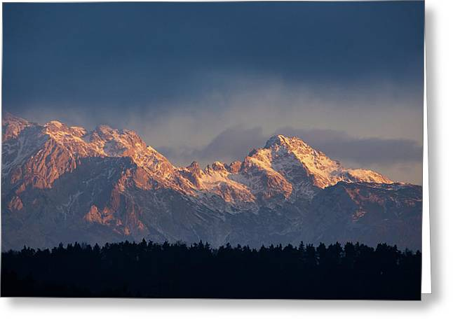 Kamnik Alps In The Morning. Greeting Card