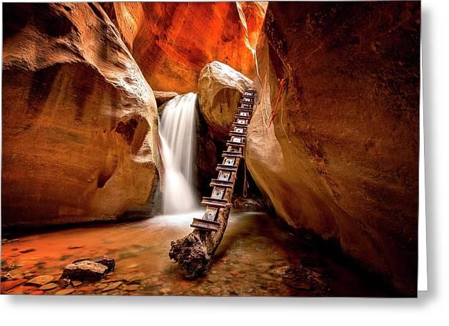 Kanarra Creek Falls Greeting Card