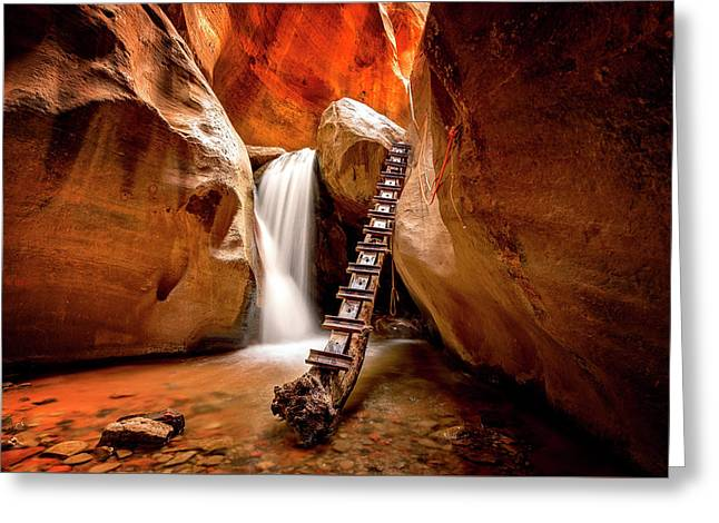 Kanarra Creek Falls Greeting Card