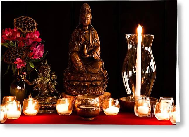Kanzeon Bosatsu - Zen Altar Greeting Card