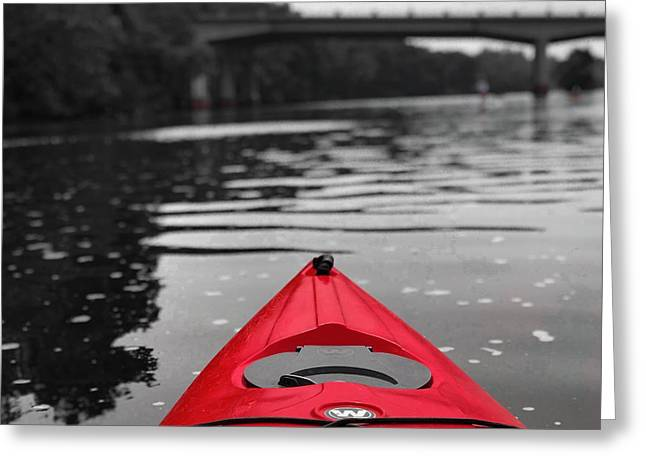 Kayaking The Occoquan Greeting Card