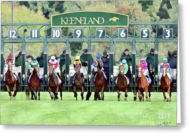 Keeneland Starting Gate Greeting Card