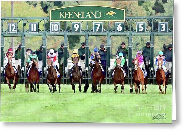 Keeneland Starting Gate Greeting Card