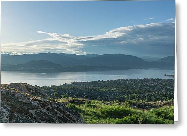 Kelowna And Okanagan Lake Greeting Card
