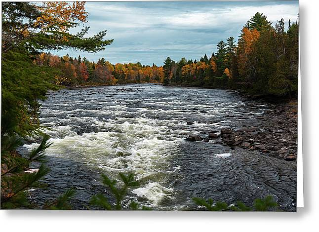 Greeting Card featuring the photograph Kennebec River by Rick Hartigan