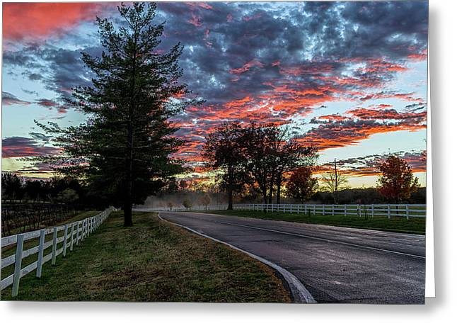 Greeting Card featuring the photograph Keswick Sunset by Lori Coleman