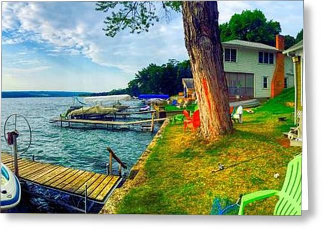 Keuka Lake Mornings Panorama Greeting Card