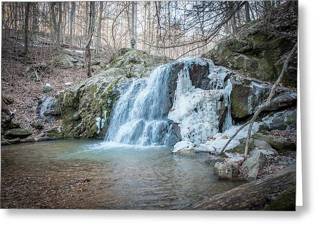 Kilgore Falls In Winter Greeting Card