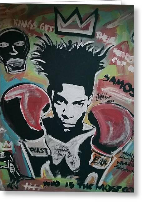 King Basquiat Greeting Card