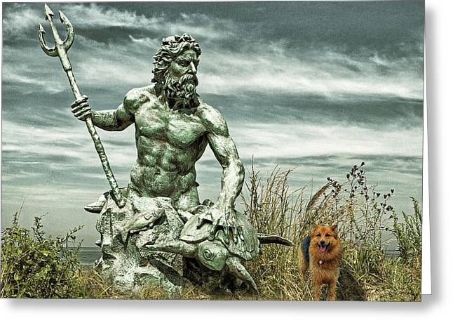 Greeting Card featuring the photograph King Neptune And Miss Hanna At Cape Charles by Bill Swartwout Fine Art Photography