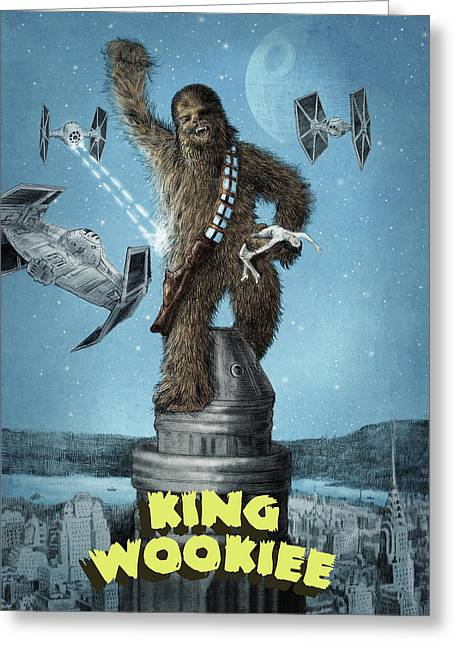 King Wookiee Greeting Card
