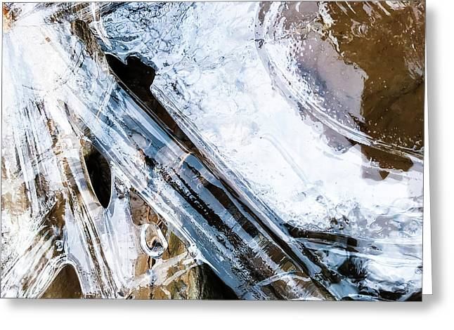 Greeting Card featuring the photograph Heart Of Ice by Atousa Raissyan