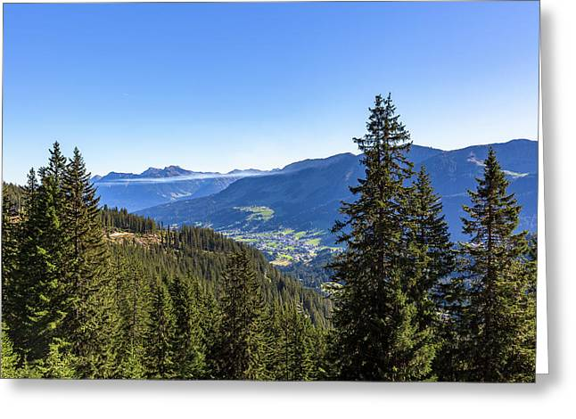 Greeting Card featuring the photograph Kleinwalsertal, Austria by Andreas Levi