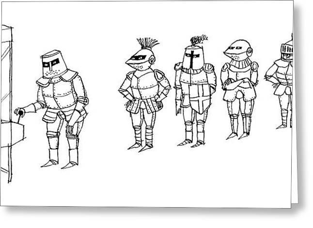 Knights Line Up Greeting Card