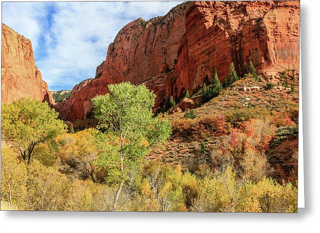 Kolob Canyon 1, Zion National Park Greeting Card