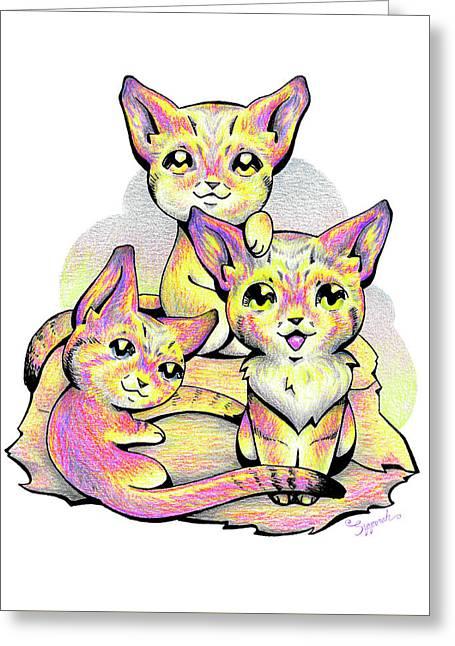 Kolorful Kitties Greeting Card