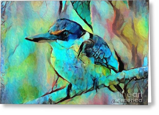 Kookaburra Blues Greeting Card