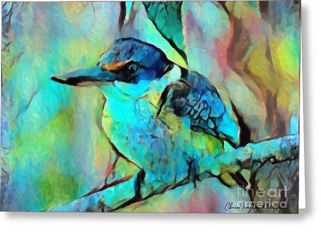 Kookaburra Blues Greeting Card