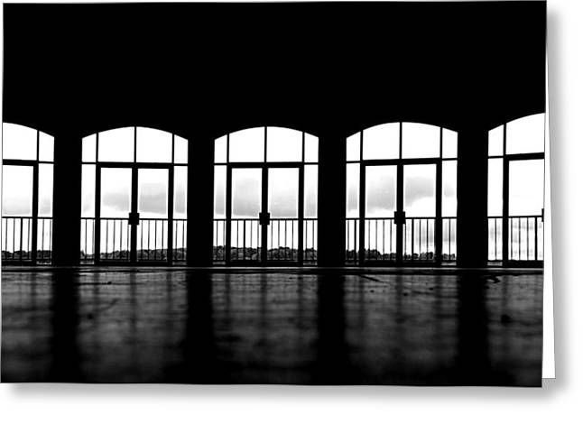 Greeting Card featuring the photograph Kresge Stage by SimplyCMB