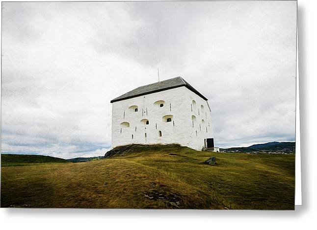 Greeting Card featuring the photograph Kristiansten Fortress In Trondheim, Norway by Whitney Leigh Carlson