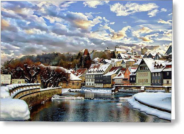 Kronach Winter Scene Greeting Card