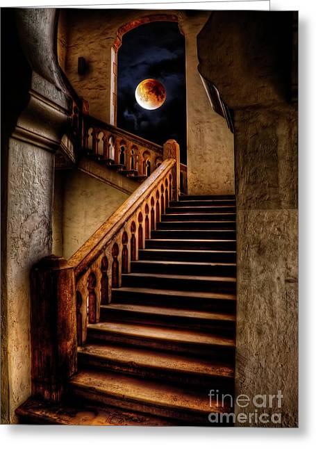 Ktm Stairway Moon Greeting Card