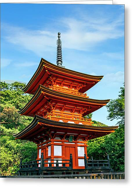 Kyoto, Japan Three-storied Pagoda Greeting Card