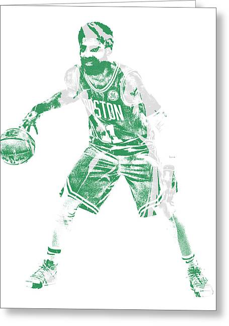Kyrie Irving Boston Celtics Pixel Art 72 Greeting Card