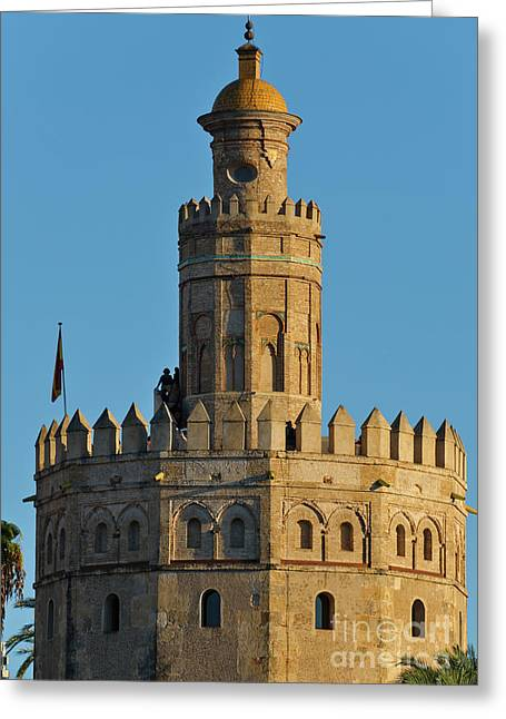 La Torre De Oro Detail. Seville Greeting Card