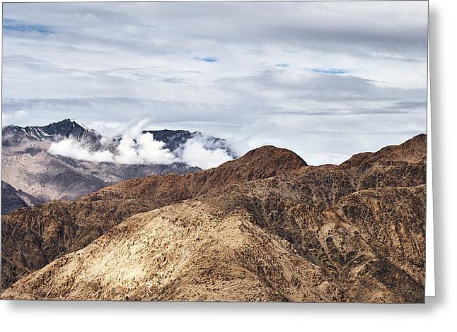Greeting Card featuring the photograph Ladakh Peaks by Whitney Goodey