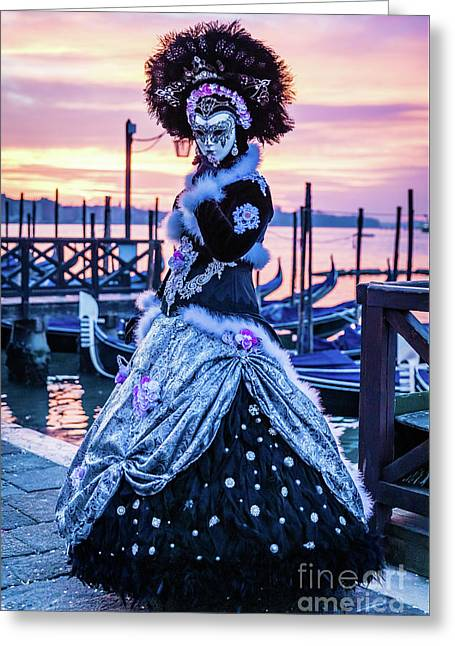 Lady In Black Greeting Card