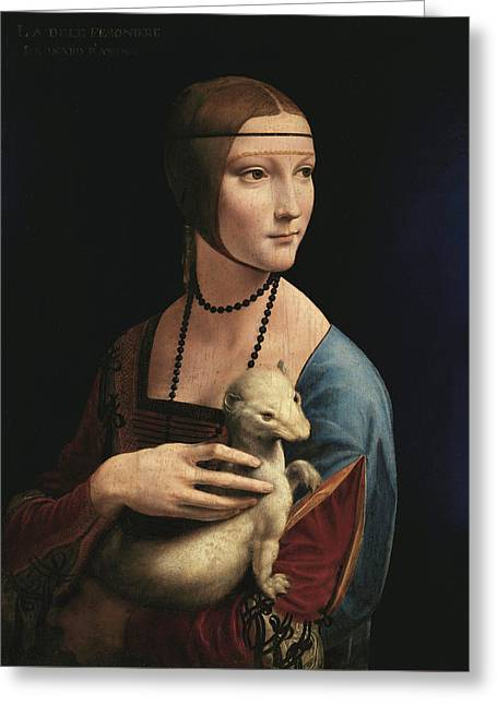 Lady With An Ermine, 1489 Greeting Card