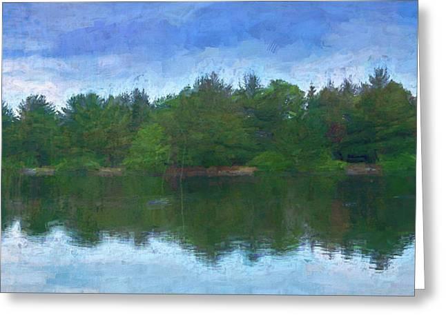 Lake And Trees Greeting Card