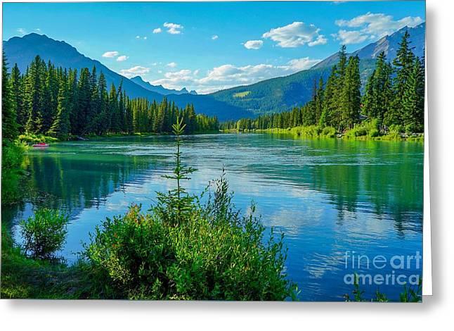 Lake At Banff Indian Trading Post Greeting Card