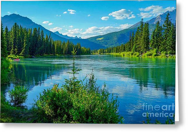 Lake At Banff Indian Trading Post Greeting Card