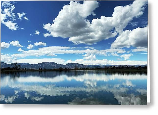 Lake At Flatirons  Greeting Card
