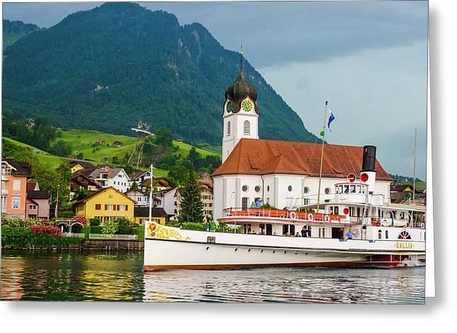 Lake Lucerne Steamer Greeting Card