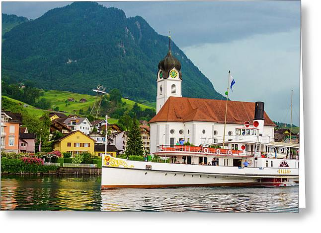 Lake Lucerne Steamer Greeting Card