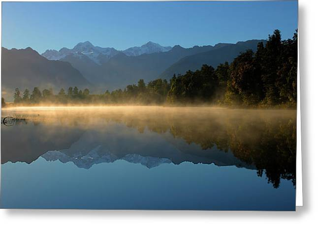 Lake Matheson Morning Greeting Card