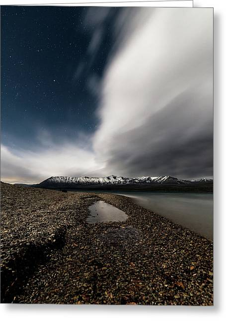 Lake Mcdonald Storm Greeting Card