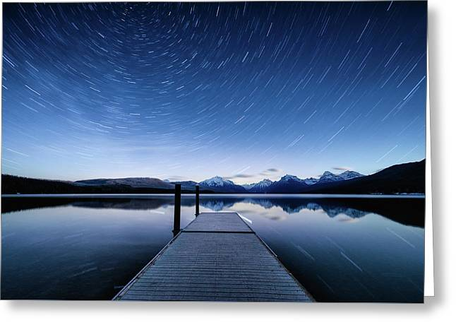 Lake Mcdonald Trails Greeting Card
