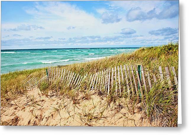 Lake Michigan Beachcombing Greeting Card