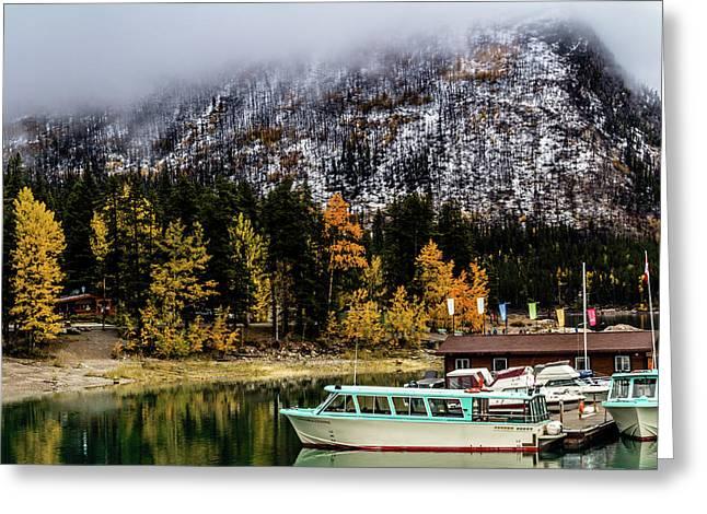 Lake Minnewanka, Banff National Park, Alberta, Canada Greeting Card